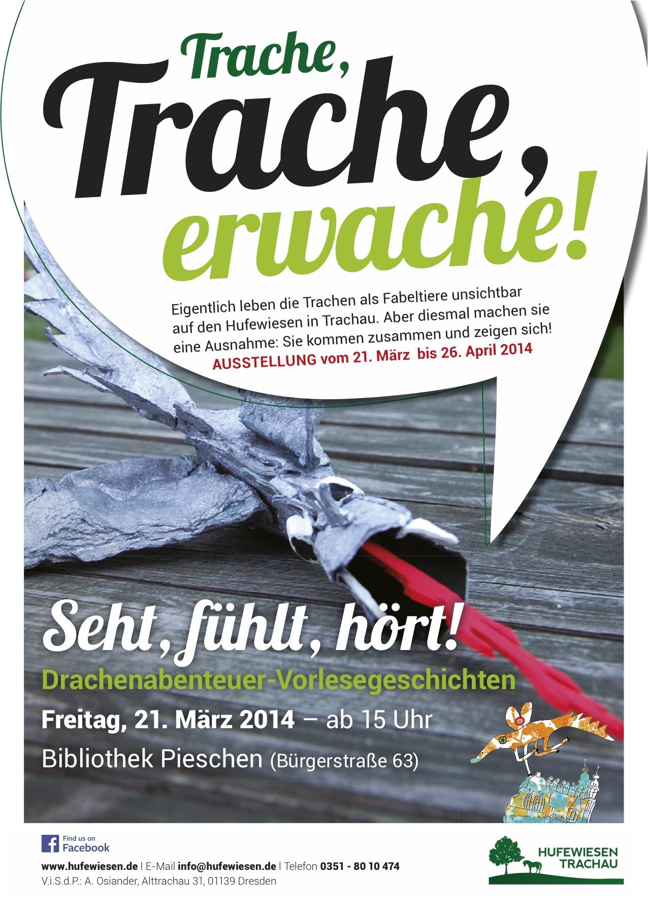 Plakat zum Trachen-Erwachen, März 2014