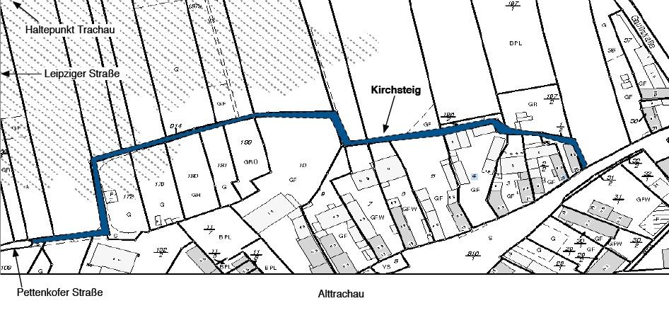 Katasterauszug Kirchsteig