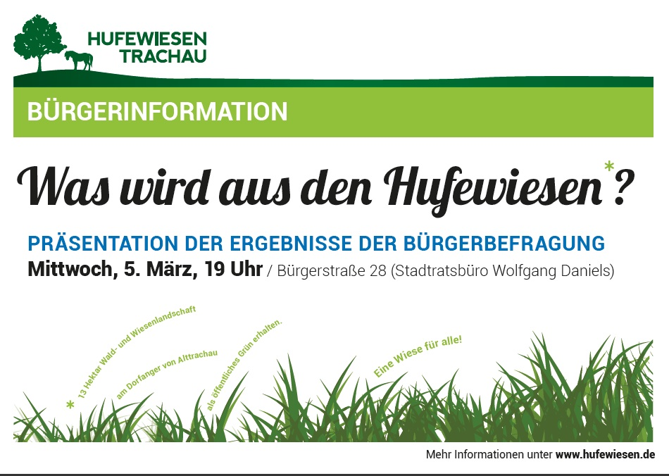 Plakat zur Bürgerinformation am 5. März