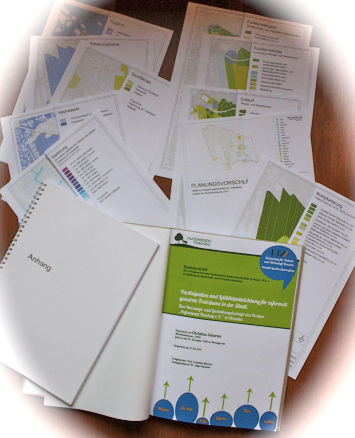Bachelorarbeit von Christian Scharun über die Hufewiesen, April 2014