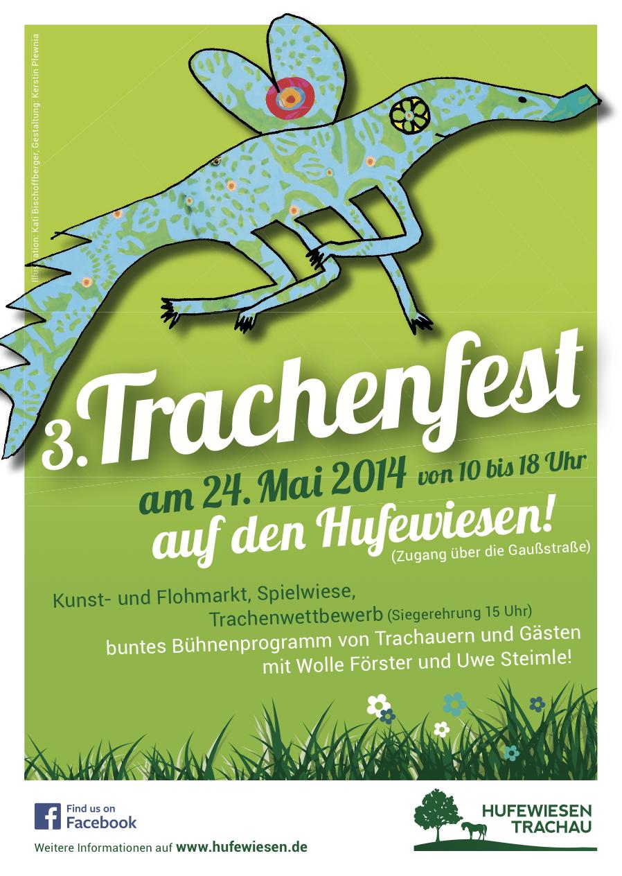 Plakat zum Trachenfest 2014