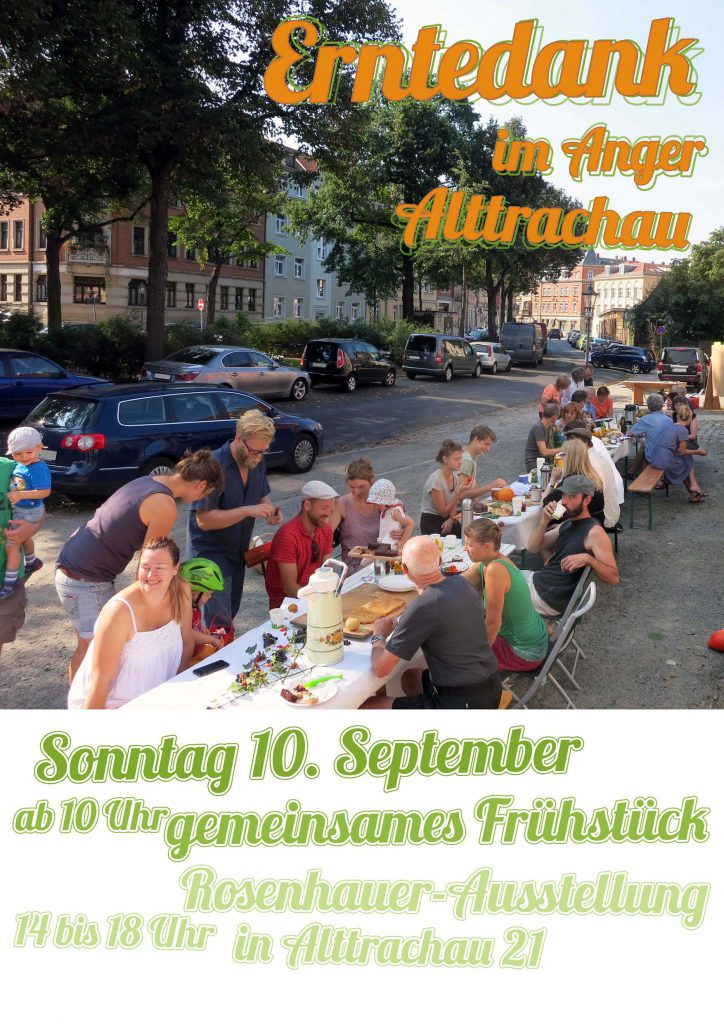 Herzliche Einladung zum Erntedank 2017 am 10. September im Anger Alttrachau